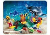 Playmobil Plongeurs  barrière de corail 4488 (boite abîmée)