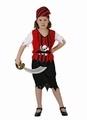 Deguisement costume Pirate Fille tête de mort 7-9 ans