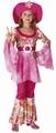 Deguisement costume Hippie rose 4-6 ans