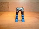 Jambes argentées bottes bleues Neuves