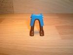 Jambes bleues bottes marron Neuves