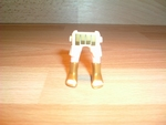 Jambes blanches et dorées Neuves