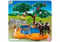 Playmobil Buffle africain avec zèbres 4828