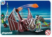 Playmobil Chevaliers dragons verts et catapulte 4840