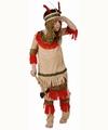 Deguisement costume Indien peau rouge 7-9 ans