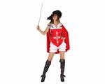 Deguisement costume Mousquetaire femme rouge