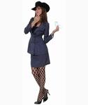 Deguisement costume Femme Gangster