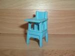Chaise haute bleue pour bébé