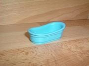 Baignoire bleue pour table à langer