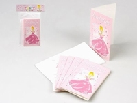 Cartes d'invitation Princesse x 6