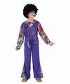Deguisement costume Hippie garçon mauve 10-12 ans