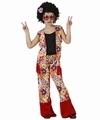 Deguisement costume Hippie fleurs fille 7-9 ans