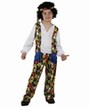 Deguisement costume Hippie garçon fleurs 7-9 ans