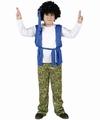 Deguisement costume Hippie garçon bleu 5-6 ans
