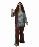 Deguisement costume Hippie homme marron  XL