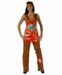 Deguisement costume Hippie femme woodstock XL