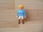 Cavalière bleu ciel bottes marron