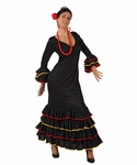 Deguisement costume Danseuse flamenco espagnole noir