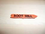 Panneau indicateur Boot Hill