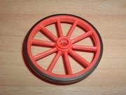 Roue rouge orangé 5,5 cm