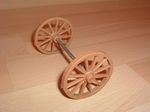 Roue double marron 5,5 cm