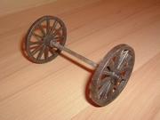 Roue double marron foncé 5,5 cm