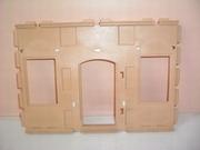 Mur deux fenêtres et porte