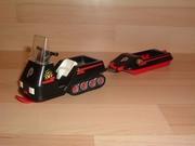 Polaire moto neige noire