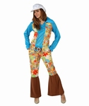 Deguisement costume Hippie femme fleurs