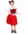 Deguisement costume Minnie Petite souris rouge  5-6 ans