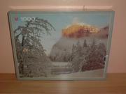 Puzzle 1000 pièces Paysage neige Neuf