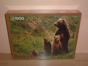 Puzzle 1500 pièces Famille d'ours Neuf