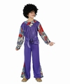 Deguisement costume Hippie garçon mauve 7-9 ans